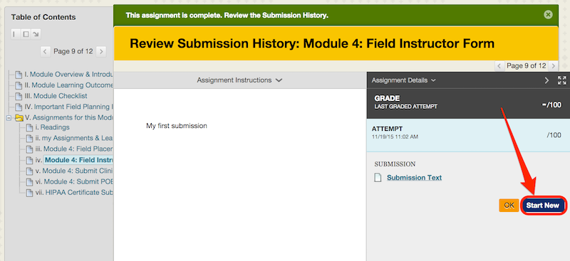 submit assignment on blackboard