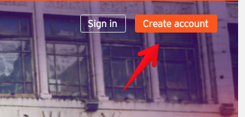 create an account button on soundcloud